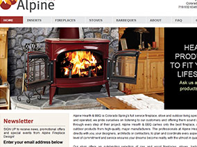 Alpine Haerth & BBQ Website