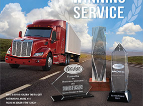 Allstate Peterbilt Group Award Winning Service Ad