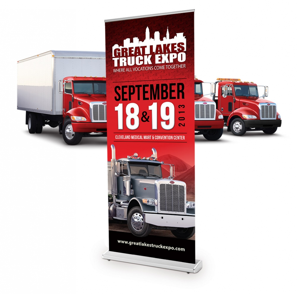 Truck Expo Banner Stand