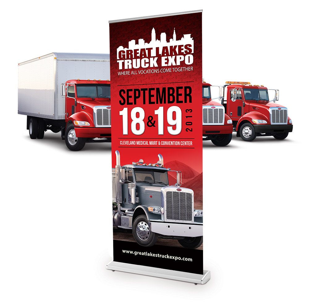 Expo Stand Banner : Truck expo banner stand colorforge creative