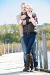 Gary and Courtney Engagement Photo - standing on dock