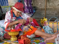 colorful old woman