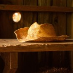 Straw Hat in Wood Shed